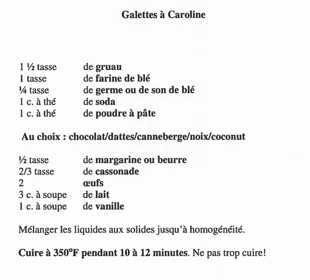 #CarolineBoulianne #recette